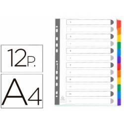 Separadores cartulina Exacompta Din A4 juego de 12 blanco