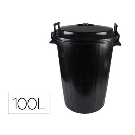 Cubo basura negro tapa para bolsas 85 x 105 cm