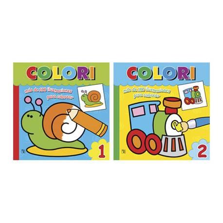 Cuaderno para Colorear Colori 2 Titulos