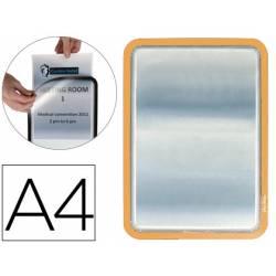 Marco Tarifold Din A4 adhesivo naranja pack de 2