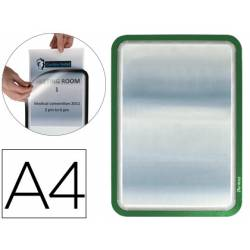 Marco Tarifold Din A4 adhesivo verde pack de 2
