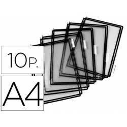 Funda portacatalogo Tarifold Din A4 negro pack de 10
