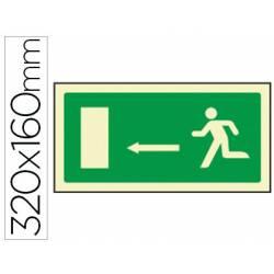 Señal Syssa salida emergencia flecha izquierda