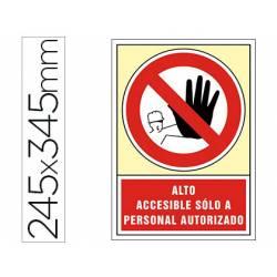 Señal Syssa prohibido el paso solo personal autorizado