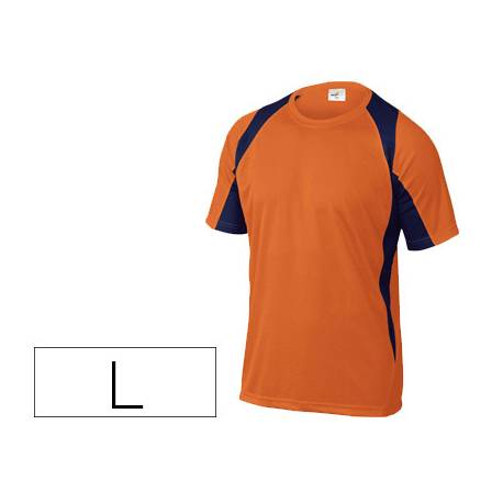 Camiseta manga corta DeltaPlus naranja talla L