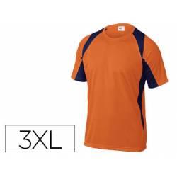 Camiseta manga corta DeltaPlus naranja talla 3XL