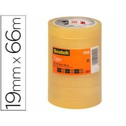 Cinta adhesiva Scotch transparente pack de 8