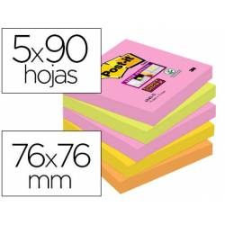 Pack 5 blocs de Post-it ® 76 x 76 mm