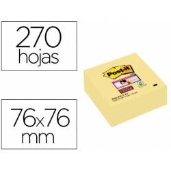 Cubo de post-it ® 76 x 76 mm amarillo