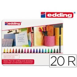 Rotulador Edding 1200 caja 20 colores surtidos