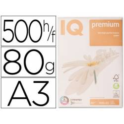 Papel multifuncion A3 IQ Premium 80 g/m2
