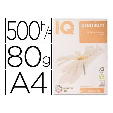 Papel multifuncion A4 IQ Premium 80 g/m2