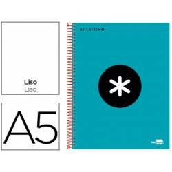 Bloc Antartik A5 Liso tapa Forrada 100g/m2 color Turquesa 5 bandas color