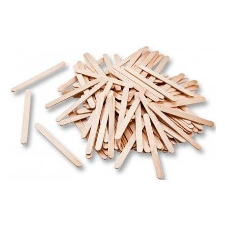 Palillos de madera color natural 75x7 mm itKrea
