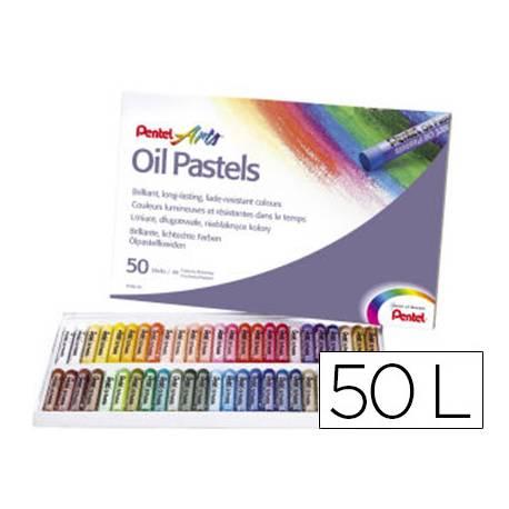 Lapices Pentel pastel caja de 50 colores surtidos