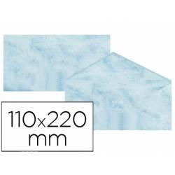 Sobre marmoleado Michel fantasia azul 25 sobres