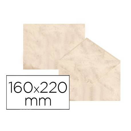 Sobre marmoleado Michel fantasia beige 160 x 220 mm