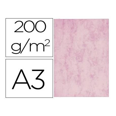Cartulina marmoleada DIN A3 Rosa