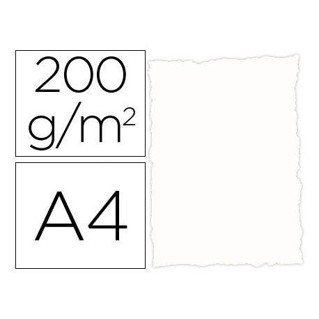 Papel pergamino DIN A4 troquelado Blanco rustico