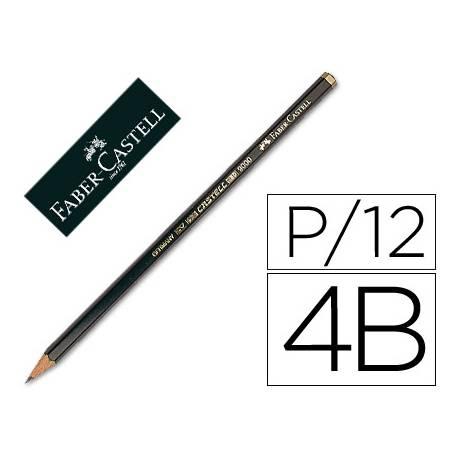 Lapices de grafito Faber Castell 9000 4B
