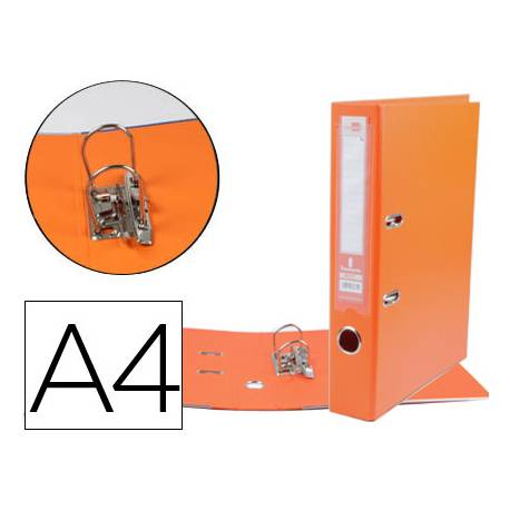 Archivador de palanca 75 mm Liderpapel Din A4 naranja