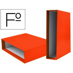 Caja archivador Liderpapel de palanca Folio documenta Naranja