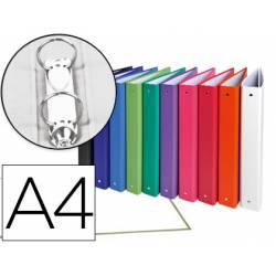 Carpeta Exacompta 2 anillas 30 mm redondas A4 carton forrado colores surtidos