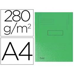 Subcarpeta cartulina Exacompta A4 verde 280g/m2 reciclada 2 solapas interiores