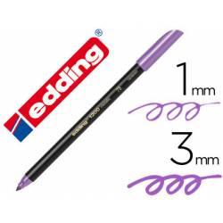 Rotulador Edding 1200 violeta metalizado