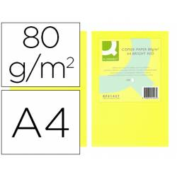 Papel color Q-Connect Din A4 Amarillo neon