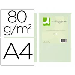 Papel color Q-connect A4 80g/m2 pack 500 hojas Verde