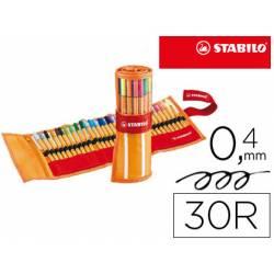 Rotulador Stabilo Point 88 Neon 0,4 Punta de Fibra Estuche 30 unidades