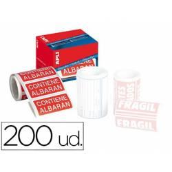 Etiquetas Apli contiene albarán 50x100 mm rollo con 200 unidades
