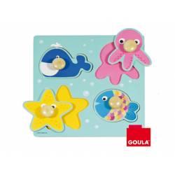 Puzzle a partir de 1 año Animales del mar marca Goula