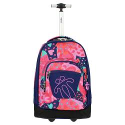 Mochila escolar con ruedas - Papel Totto 52.00x33.00x28.00cm color rosa