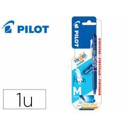 BOLIGRAFO PILOT FRIXION CLICKER BORRABLE 0,7 MM PUNTA MEDIA AZUL EN BLISTER