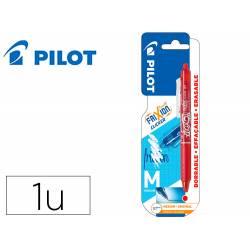 BOLIGRAFO PILOT FRIXION CLICKER BORRABLE 0,7 MM PUNTA MEDIA ROJO EN BLISTER