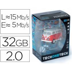 MEMORIA USB TECH ON TECH HIPPY VAN BANG CAMPER 32 GB