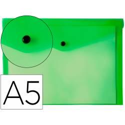 Carpeta sobre Liderpapel broche verde Din A5