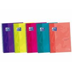 Cuaderno Oxford Ebook 5 DIN A4+ Colores Surtidos 120 hojas Tapa Extradura Rayado Horizontal