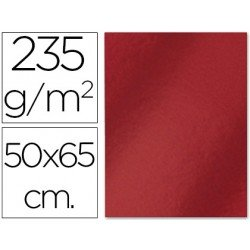Cartulina metalizada Liderpapel color rojo 235 g7m2