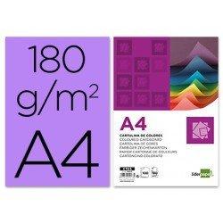 Cartulina Liderpapel lila a4 180 g/m2