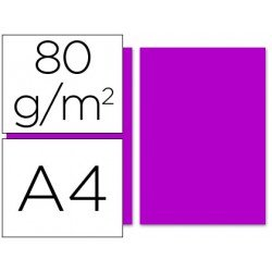Papel color Liderpapel fucsia A4 80g/m2