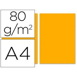 Papel color Liderpapel naranja A4 80 g/m2