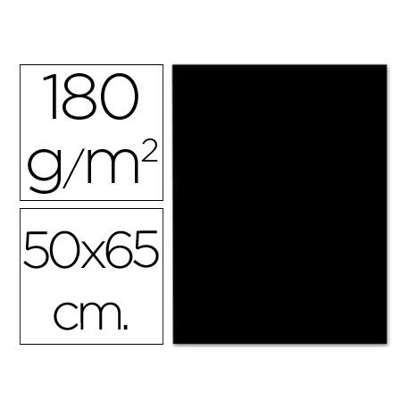 Cartulina Liderpapel 180 g/m2 color negro
