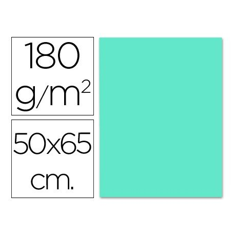 Cartulina Liderpapel 180 g/m2 azul turquesa