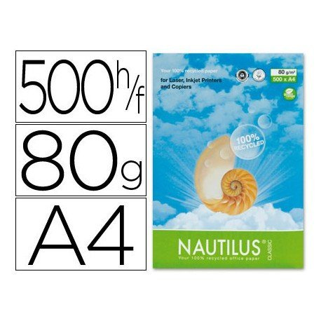 Papel multifuncion reciclado A4 Nautilus Mondi 80 g/m2