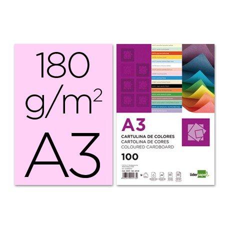 Cartulina Liderpapel rosa a3 180 g/m2