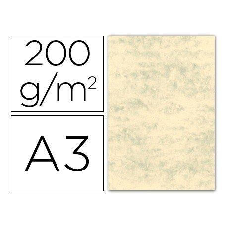 Cartulina marmoleada DIN A3 Crema claro