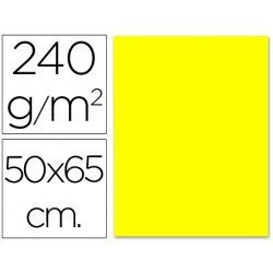 Cartulina Liderpapel color amarillo limon 240 g/m2